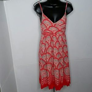 ELLE Skinny Strap Sun Dress Orange Red size XS